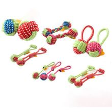 Funny Pet Toy Dog Toys Dogs Chew Clean Teeth  Green Rope Ball Toy For Big Small Dog Cat Outdoor Training Fun Game magideal horse toy game ball with apple scent pet joy fun horse stable and yard toy