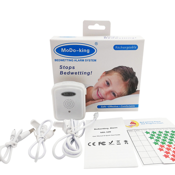 MoDo-king latest version rechargeable bedwetting enuresis alarm for baby boys kids nocturnal enuresis MA-109