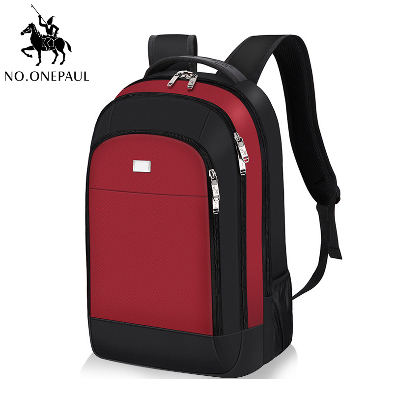 NO.ONEPAUL Mens Daily School Laptop Backpack Fashion Travel Rucksack Man Casual Waterproof USB Interface Backpack Bag Women Bags