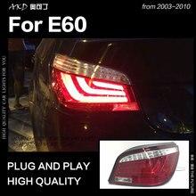 AKD автомобильный Стайлинг для BMW E60 задний фонарь 2003-2010 523i 525i 530i задний фонарь светодиодный DRL динамический сигнал тормоза Обратный Авто аксессуары