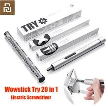 Wowstick Youpin magnético 20 en 1, destornillador eléctrico de precisión, Mini destornillador eléctrico inalámbrico de mano, juego de herramientas para el hogar