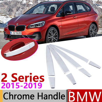 for BMW 2 Series F45 F46 Active Tourer Gran Tourer 2015~2019 Chrome Door Handle Cover Car Accessories Stickers Trim Set 2016 image