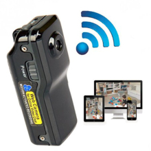 MD80 Mini Camcorder Remote Wireless WIFI Network Mini DV Record Camera Support 16G TF Card 720*480 Vedio Lasting Recording Cam
