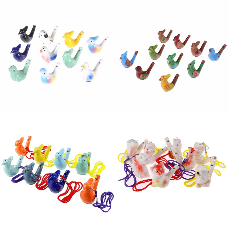 Children Drawing Water Bird Whistle Bathtime Musical Toy For Kid Early Learning EducationalChildren Gift  Musical Instrument Toy
