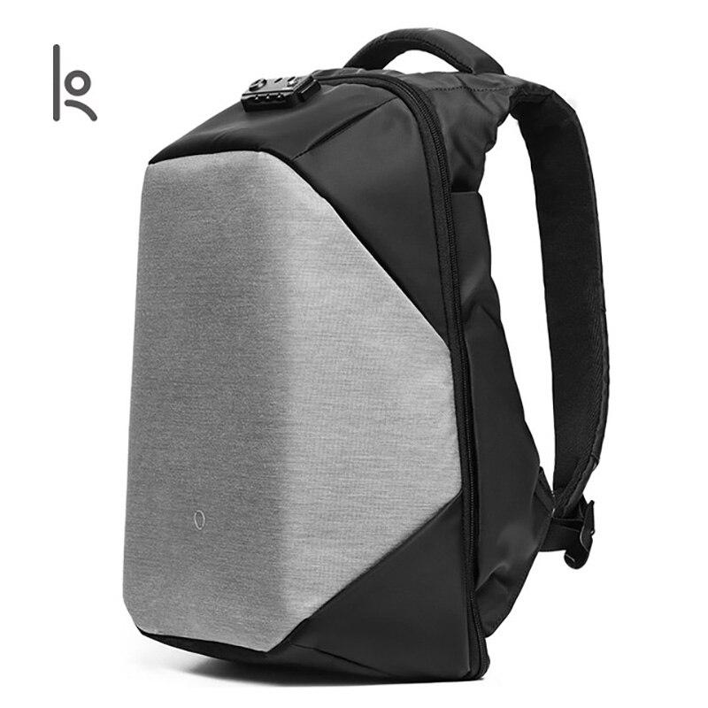 Korin デザインクリック複数の抗泥棒バックパック男性ラップトップバックパック 15.6 インチ USB 充電大型防水旅行のバックパック男性  グループ上の スーツケース & バッグ からの バックパック の中 1