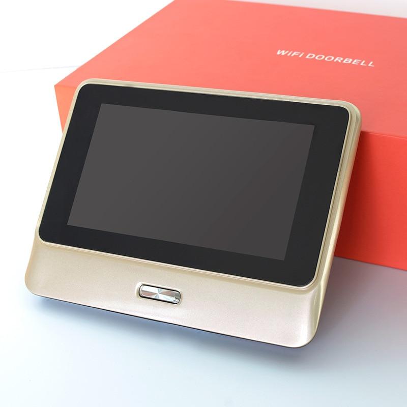 Smart Wifi Video Doorbell Wireless Intercom DoorBell Remote Peephole Infrared Night Security Camera HD 5 Inch Viewer Doorbell