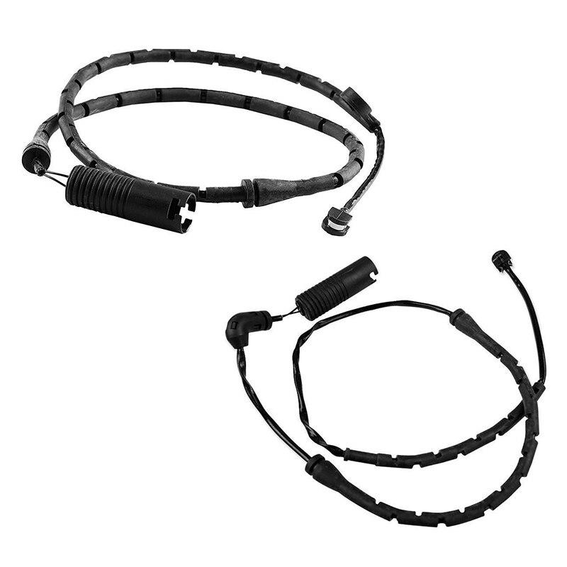 Friendly 2pcs Front+rear Disc Brake Pad Wear Sensor 34351165579 For Bmw E53 X5 34351165580