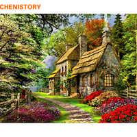 CHENISTORY, безрамный Сельский пейзаж, сделай сам, картина по номерам, акриловая ручная роспись, картина маслом для домашнего декора, 40x50 см, произ...