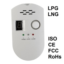 цена на Gas Analyzer Combustible Gas Detector Nature Gas Leak Location Determine Tester Sound-light Alarm Warning Screen Kitchen Hotel