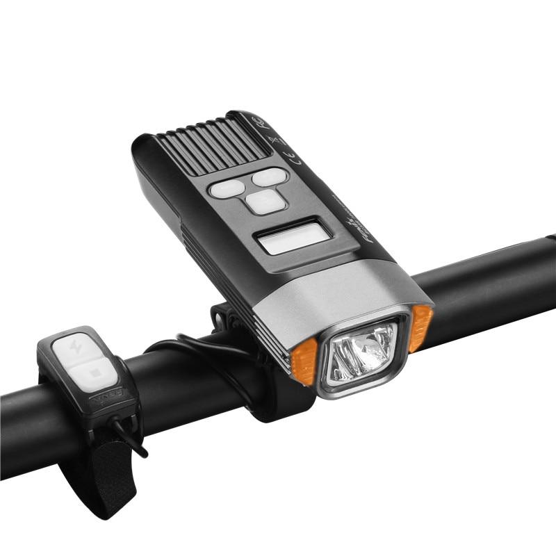 1800 lúmenes Fenix BC35R Cree XHP50 LED blanco neutro todo redondo USB recargable Luz de bicicleta con pantalla OLED - 5