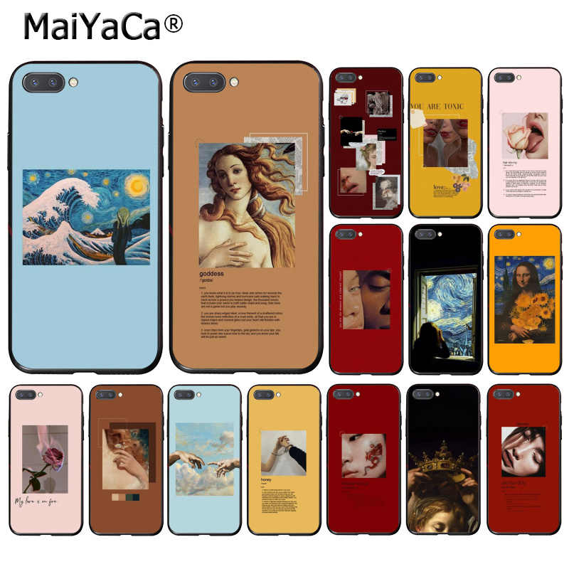 MaiYaCa 偉大な芸術美的ゴッホモナリザの絵電話ケース Huawei 社の名誉 8 × 9 10 20 Lite 7A 8A 5A 7C 10i 20i View20