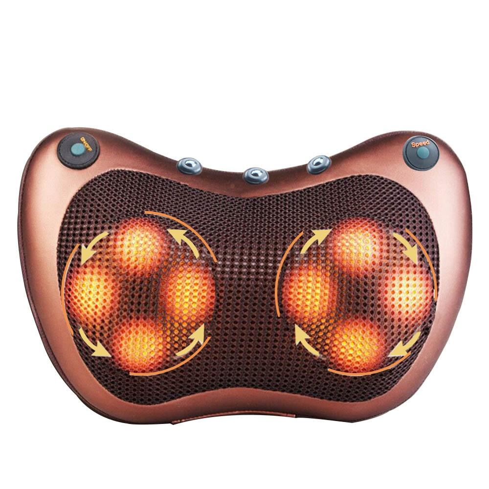 Многофункциональная Расслабляющая массажная подушка, инфракрасное нагревание плеч, вибратор, Электрический разминающий массаж шеи шиацу|Массаж Подушка|   | АлиЭкспресс