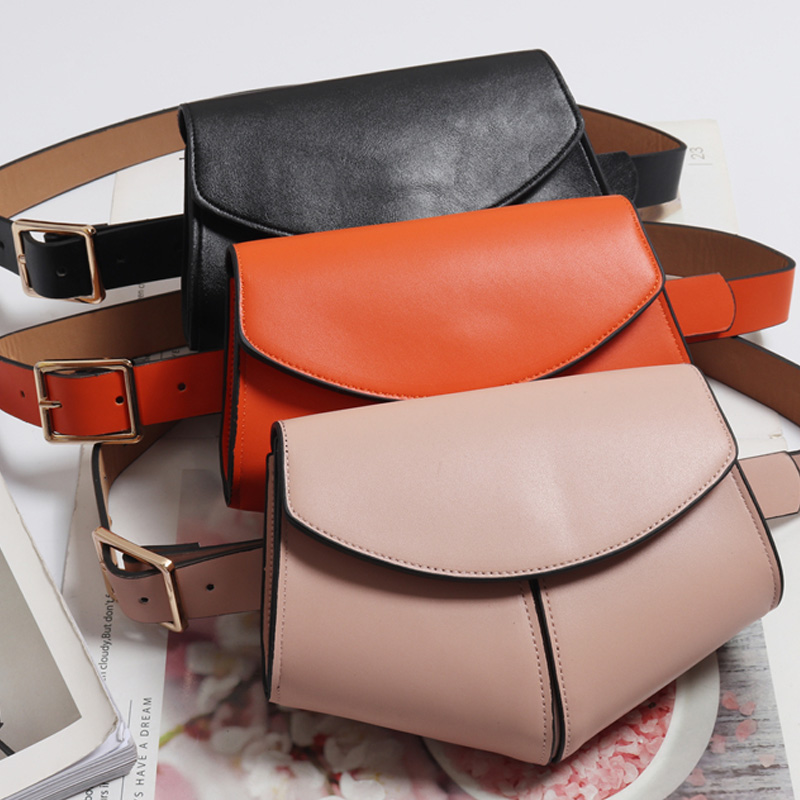 Ladies Serpentine Fanny Pack PU Leather Waist Belt Bag Female Mini Waist Pack Luxury Handbags Women Phone Bag Designer Chest Bag
