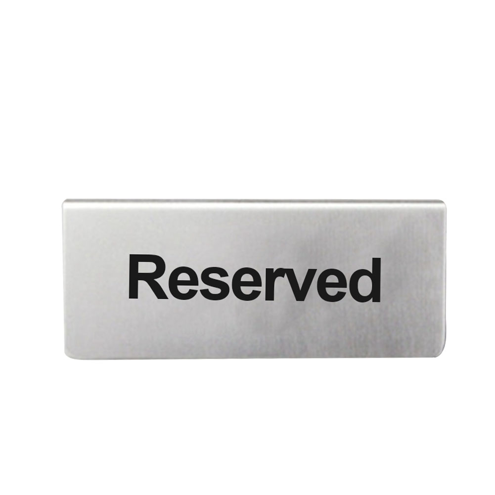 10 Reserved Table Sign Stainless Steel Free Standing Restaurant Bars Tabletop