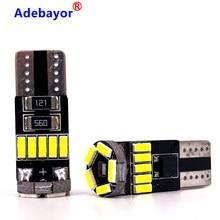 Bombillas LED Canbus T10 W5W 194 4014 SMD para Interior de coche, sin Error, luz de techo, mapa, lámpara de maletero, 12V, blanco, 10 Uds.