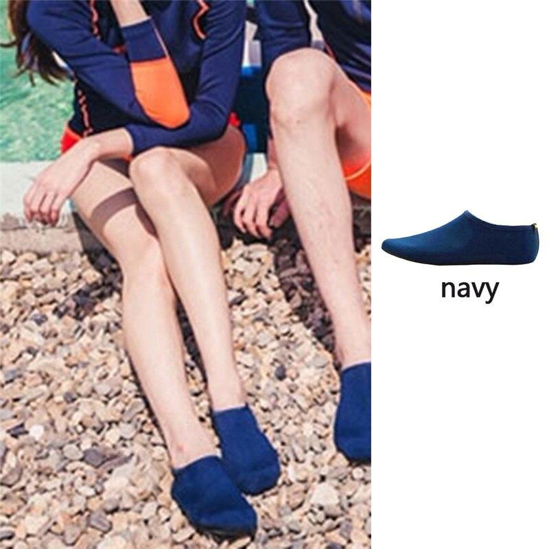 Водонепроницаемая обувь; обувь для плавания для мужчин и женщин; пляжная обувь для кемпинга; обувь для йоги; складная обувь унисекс для взрослых; мягкие Прогулочные кроссовки на плоской подошве; Новинка - Цвет: Navy