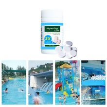 100Pcs Tablets Disinfection Pills Swimming Pool Chlorine Tablets Instant Effervescent Pipes Cleaning Water Home Use Disinfection 50 pieces swimming pool instant disinfection tablets chlorine dioxide effervescent tablets disinfectant chlorine disinfectant