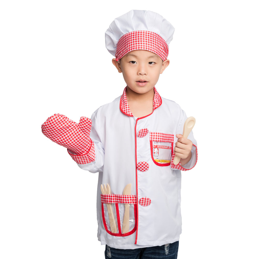 Umorden Kids Child Cook Chef Costume Cosplay Kindergarten Role Play House Kit Set For Boys Halloween Party Dress Up Educational