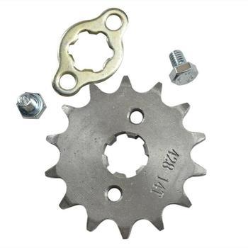 Pit Dirt Bike-piñón delantero de 14 dientes, 17mm, 428, 110cc, 125cc, 140cc, 150