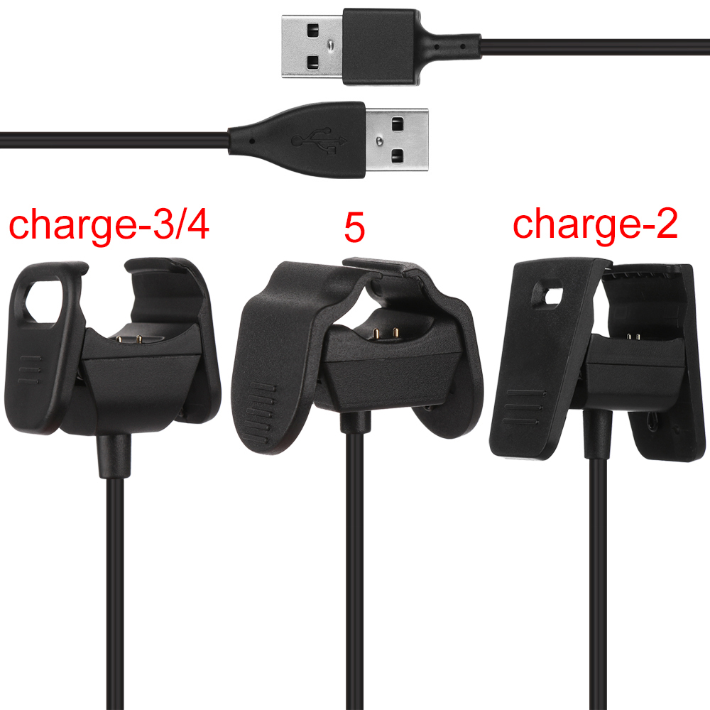Fitbit Charge 2//3//4 USB Charging Cable Smart Accessories Xiaomi 5 Clip Charger