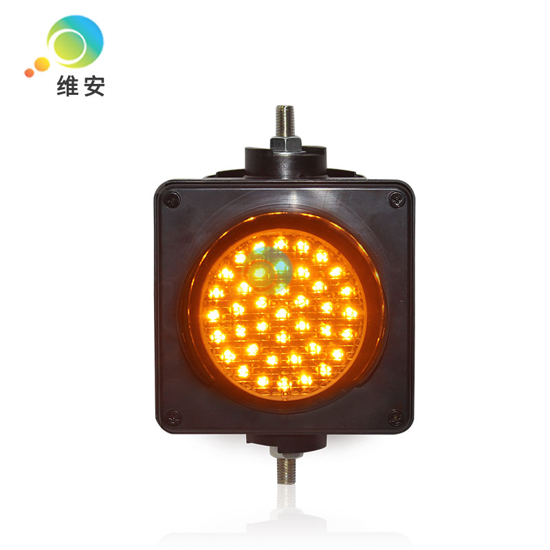 DC12V PC Housing Colored Lens Single 100mm Yellow LED Traffic Signal Light For Promotion