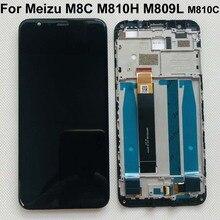 Оригинальный протестированный Новый ЖК дисплей 5,45 дюйма для Meizu M8C 8C M810H M809L, экран с рамкой и сенсорной панелью, дигитайзер для дисплея Meizu M8C