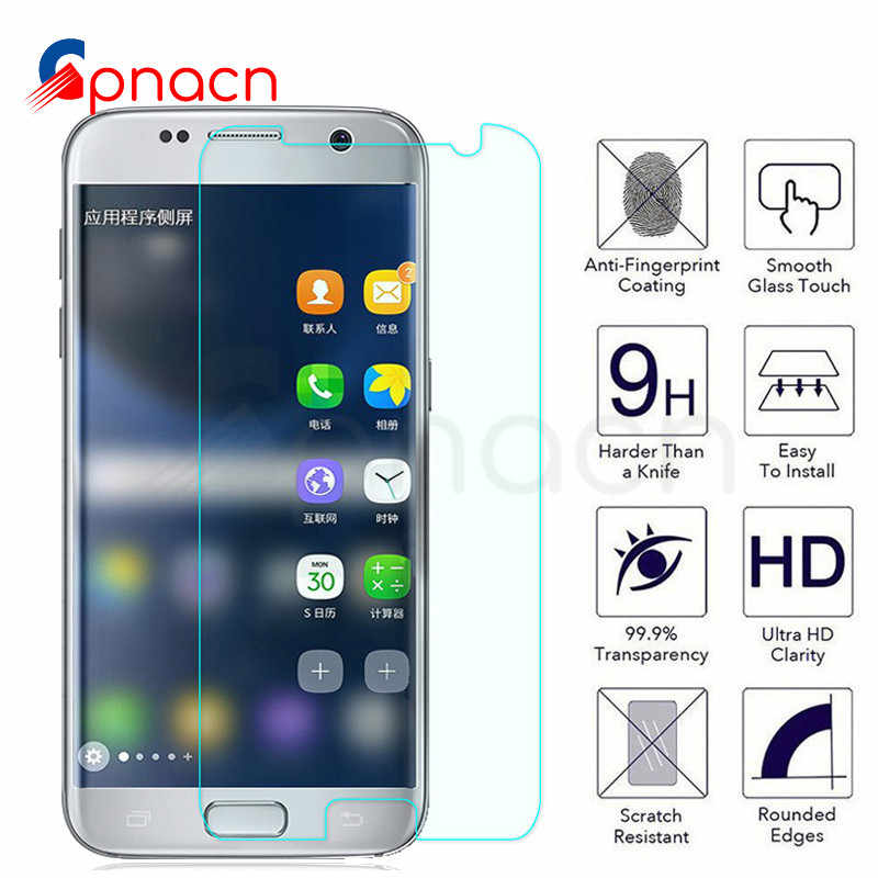 9H Anti-Burst Protective Glass On The For Samsung Galaxy S7 S6 S5 S4 S3 mini Note 5 4 3 Tempered Screen Protector Glass Film