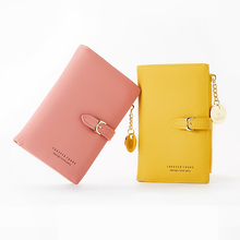 Women Wallets Purse Coin Card Holder Female High Quality Clutch Money Bag Solid PU Leather Zipper Hasp Fashion red pink