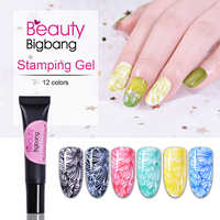 BEAUTYBIGBANG ongles estampage Poly Gel vernis 8ml timbre impression UV Gel laque tremper le vernis pour l'art des ongles estampage plaque ongles