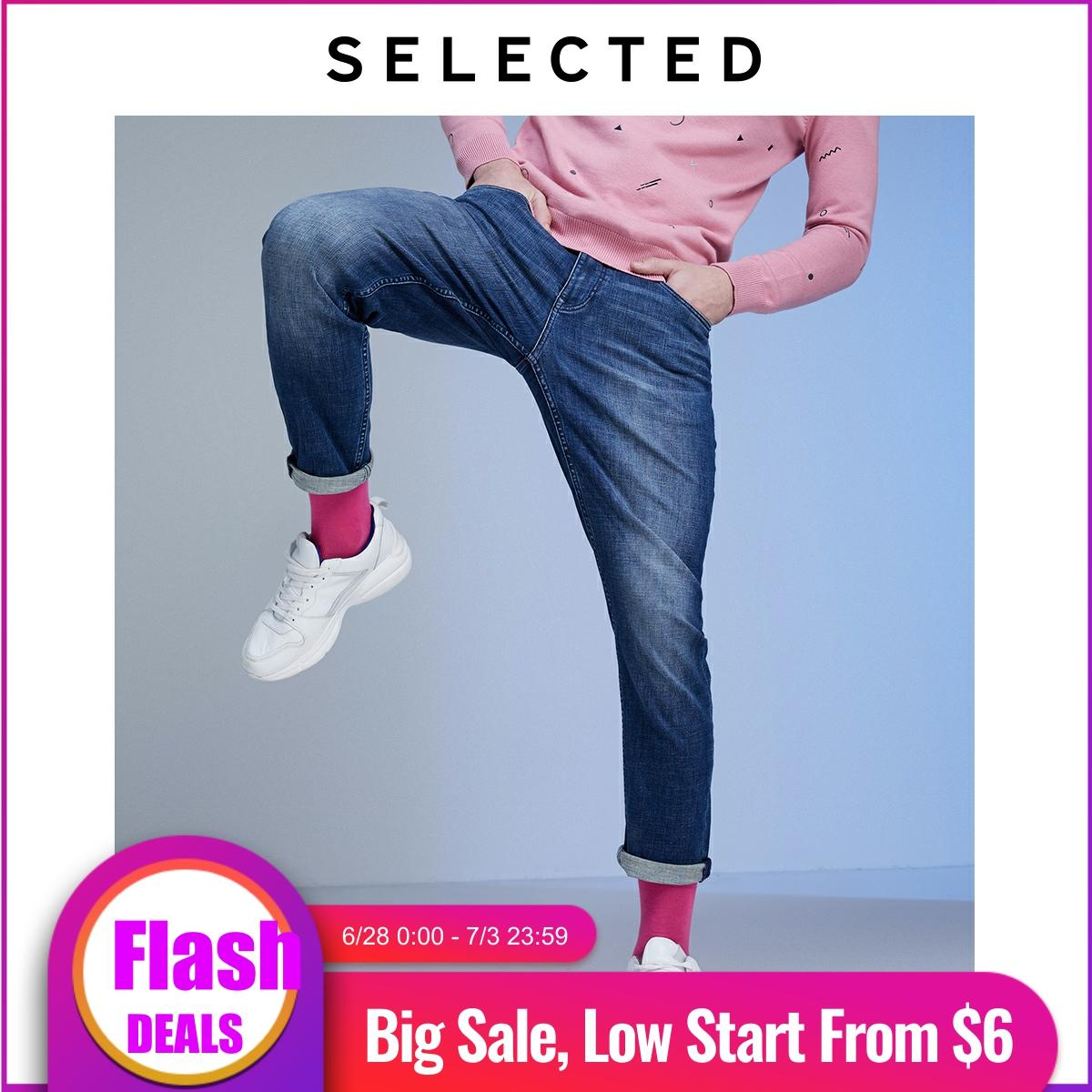 SELECTED Men's Slim Fit Stretch Washed Jeans LAB|419432532