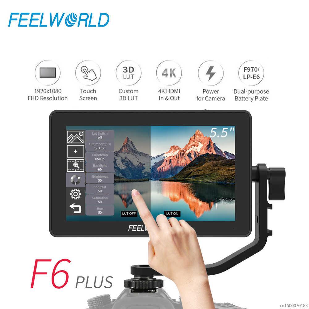FEELWORLD F6 PLUS 4K Monitor 5,5 Zoll auf Kamera DSLR 3D LUT Touchscreen IPS FHD 1920x1080 video 4K HDMI Feld Monitor dslr