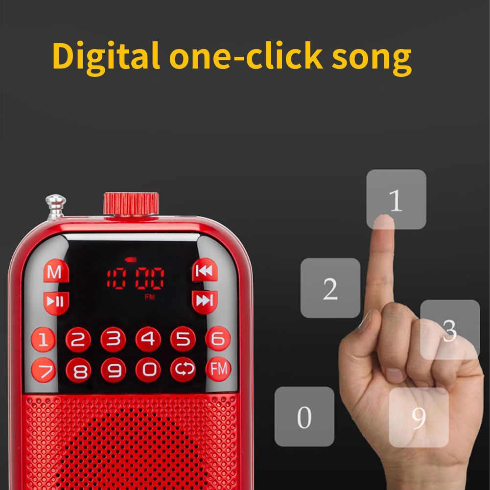 Multifunctionele Ontvanger Usb Oplaadbare Speaker Stereo Lcd-scherm Muziekspeler Gemakkelijk Bedienen Fm Radio Draagbare Digitale Mini