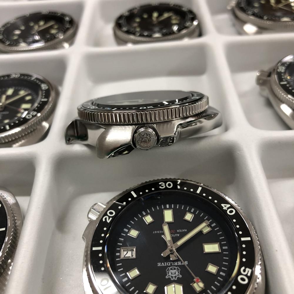 H34fad9b9aacc4e6b8b96ee3ed78195abI SD1970 Steeldive Brand 44MM Men NH35 Dive Watch with Ceramic Bezel