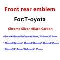 1 шт. ABS хромированный черный углеродное волокно автомобиля передняя фара капот эмблема автомобиля задний бампер багажник Стикеры для машин...