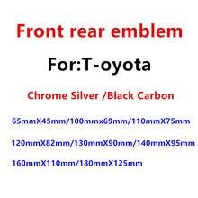 1 pçs abs chrome preto fibra de carbono cabeça do carro capô capô emblema traseiro cauda tronco adesivo emblema carro estilo