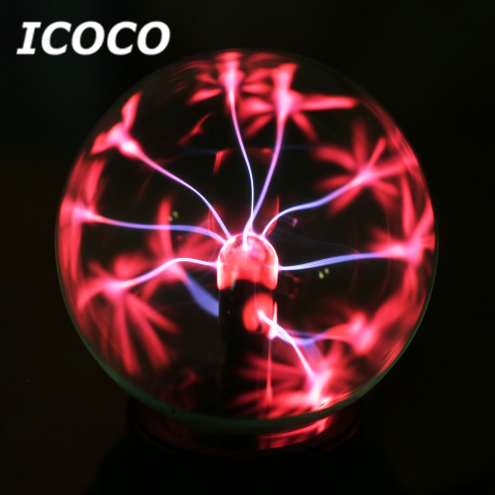 ICOCO Plasma Ball USB Sphere Light Magic Crystal Lamp Desktop Lightning Christmas Party Touch Sensitive Lights Electrostatic