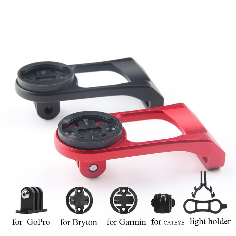 Bicycle Computer Camera Mount Holder Out Front Bike Mount From Cycling Stopwatch Accessories for iGPSPORT Garmin Bryton GoPro image