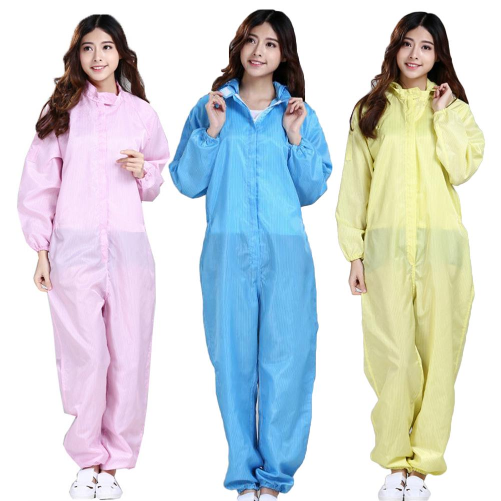 Unisex Sanitary Protection Jumpsuit Anti-static Isolation Protective Film Coveralls Anti-static Clothing