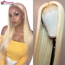 613 mel loira 13x4 frente do laço perucas de cabelo humano para as mulheres brasileiro em linha reta pré arrancadas peruca 4x4 perucas fechamento do laço 150% densidade
