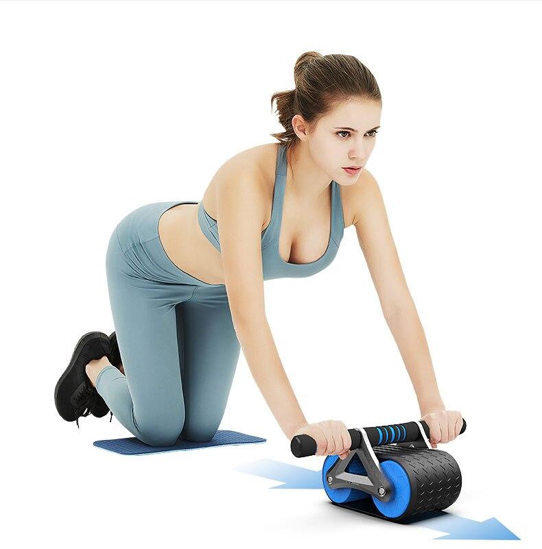 Roda abdominal silenciosa equipamento de exercício muscular