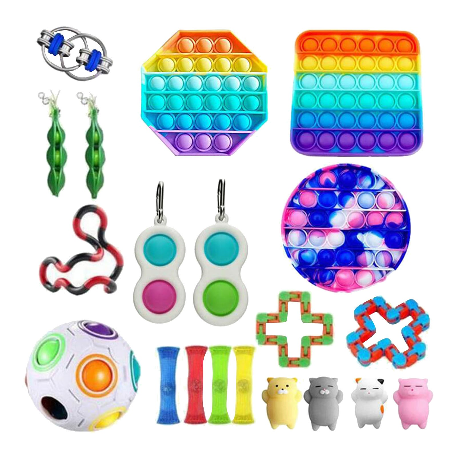 Push Bubble popit Autism New Fidget Toys Special Needs Stress Reliever Helps Relieve Stress and Increase Focus Soft Squeeze Toy img4
