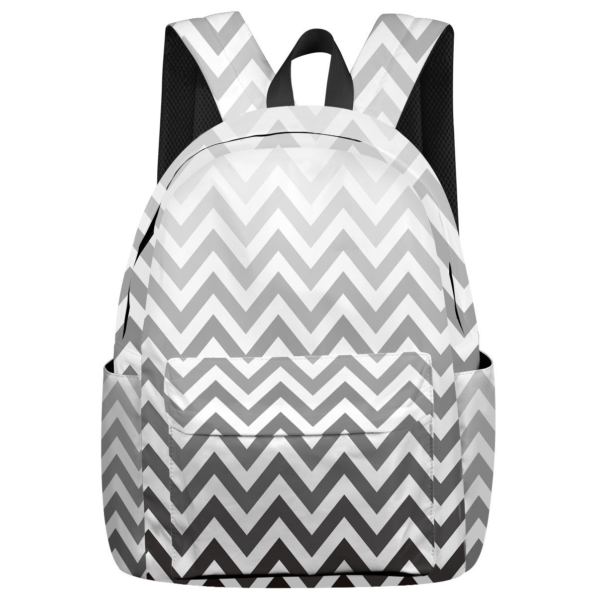 Geometric Gradient Ripple Soft And Comfortable Scratch Resistant Laptop Backpacks Business Daypack College Students Casual