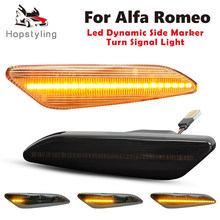 Led luzes de marcador laterais dinâmicas seta pisca luzes para alfa romeo 156 / 156 sportwagon typ (932) / 147 typ (937)