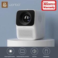Xiaomi Wanbo جهاز عرض LCD T2 ، HD ، 150 ANSI ، تصحيح عمودي ، محمول ، متوافق مع HDMI ، للسينما المنزلية