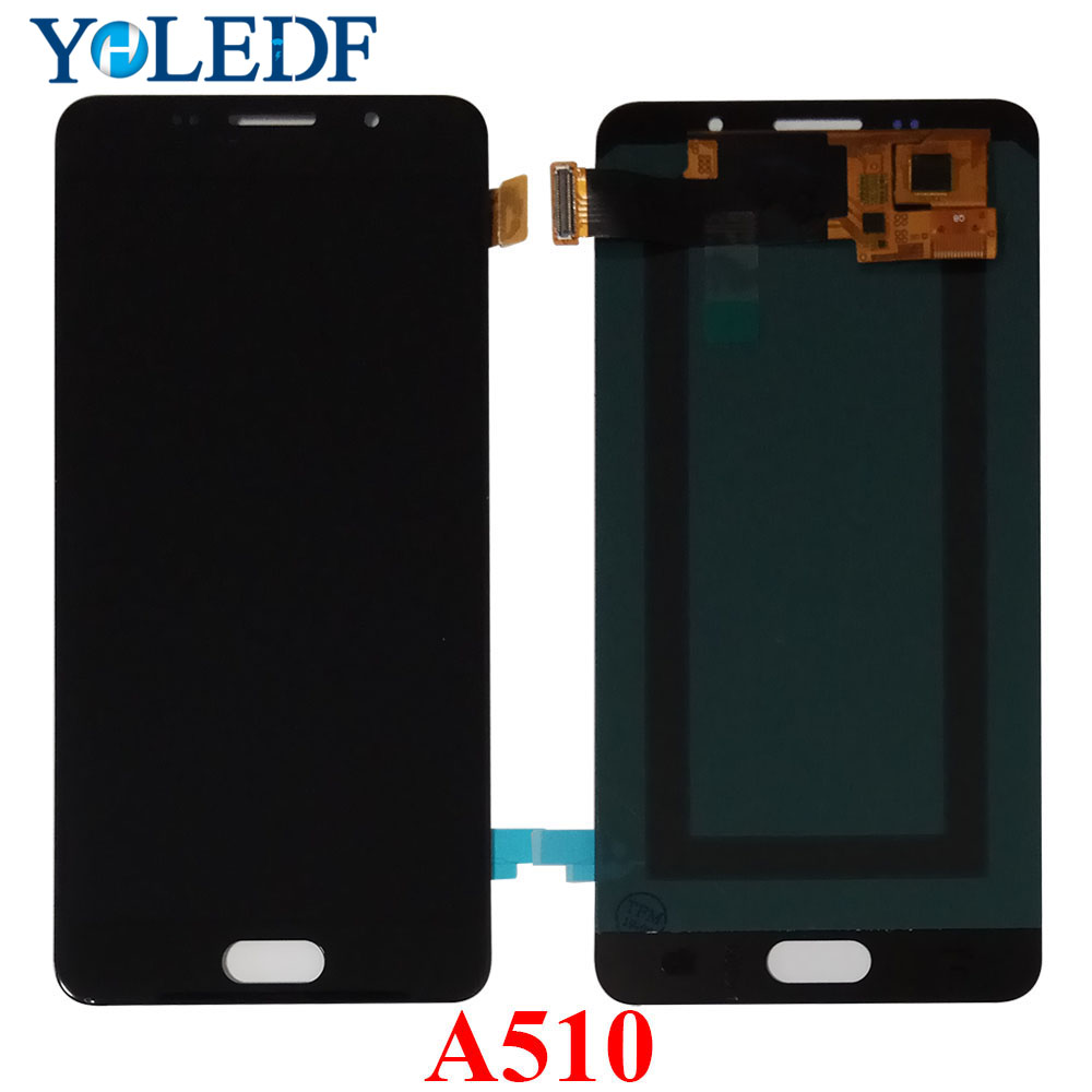 "5.2"" Super AMOLED LCD For SAMSUNG Galaxy A5 2016 LCD Display A510 A510F A510M SM-A510F Touch Screen Digitizer Assembly LCD Parts"