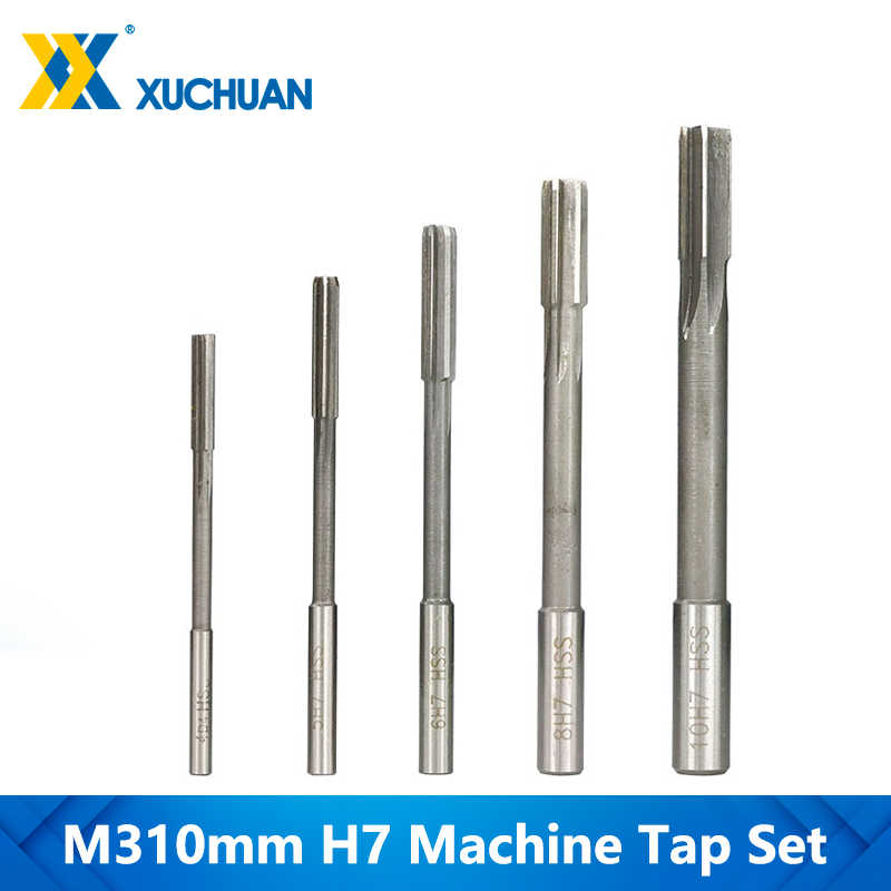 New  2pcs 5mm Machine HSS Straight Shank Chucking Milling Reamer Cutter