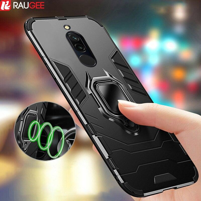 Armor Case for Redmi 8 8A Case Magnetic Car Phone Holder TPU PC Bumper Cover on Innrech Market.com