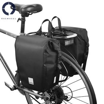 Roswheel Sahoo 10L/20L Bicycle Saddle Bag  Waterproof Bicycle Pannier Bag Bike Back Rear Seat Trunk Bag Rack Pack Shoulder Bag