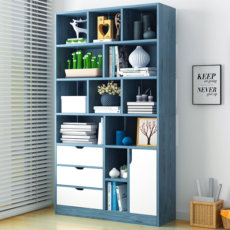 VIP Simplicity Bookcase Bookshelf Minimalist Modern Floor Storage Shelf Assembly For Student Creative Cabinet Household