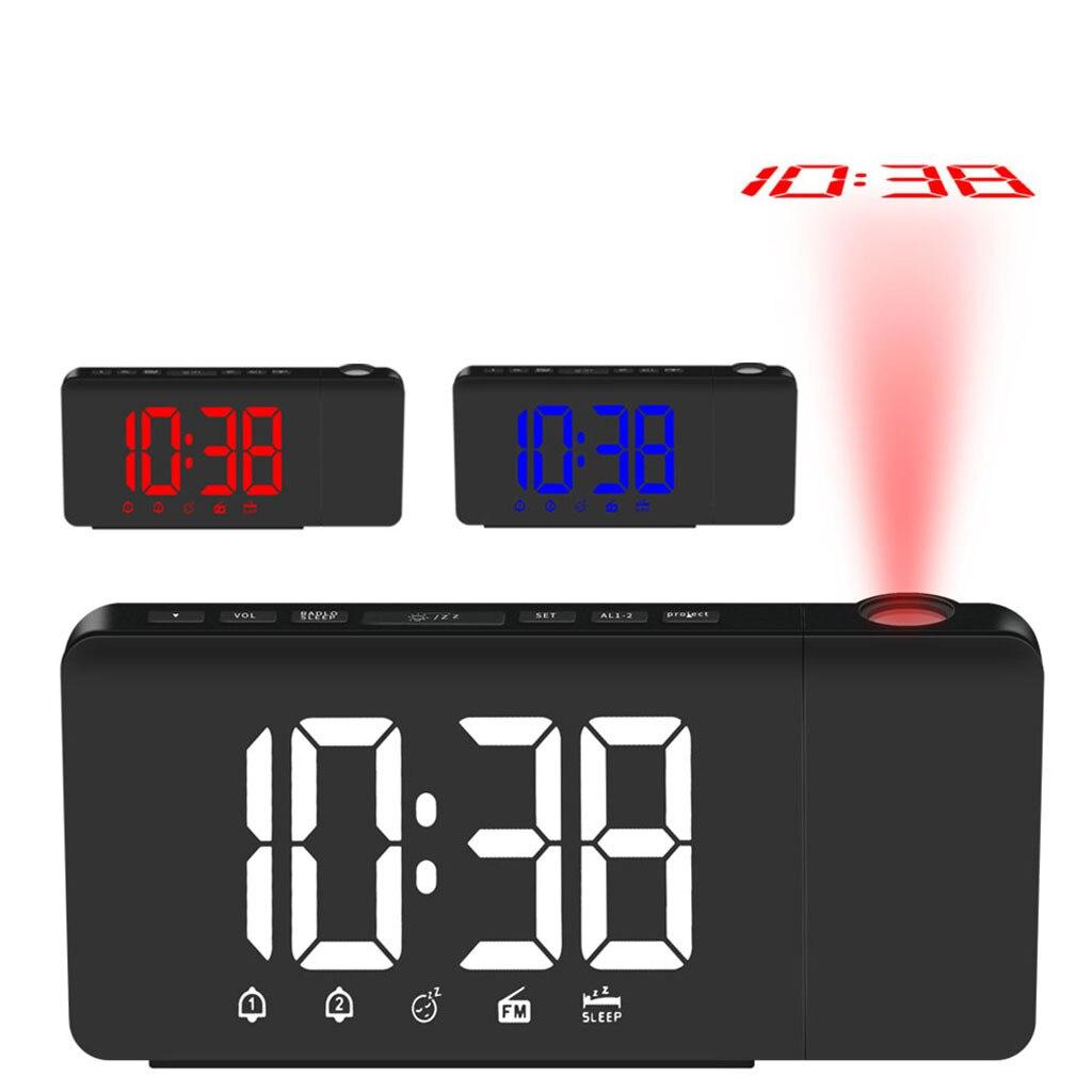 Led Digital Alarm Clock Rotatable Dual